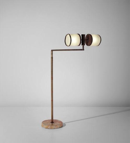 Rare adjustable standard lamp