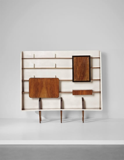 Rare bookcase with integrated drinks cabinet