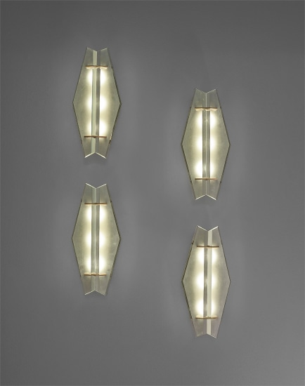 Set of four wall lights, model no. 1943