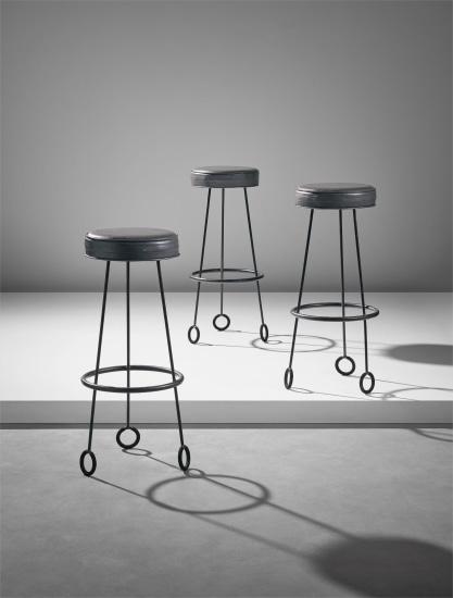 Set of three 'Yo-Yo' stools