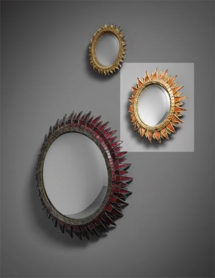 'Soleil à Pointes' mirror, model no. 2