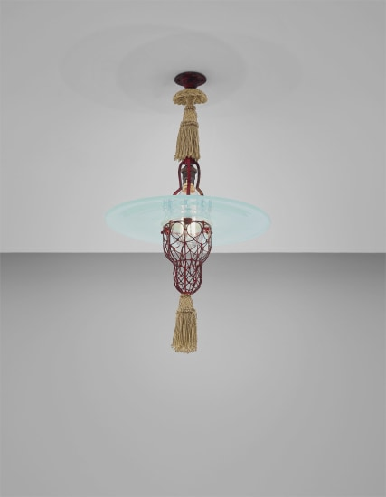 Rare 'Cardinal's Hat' ceiling light
