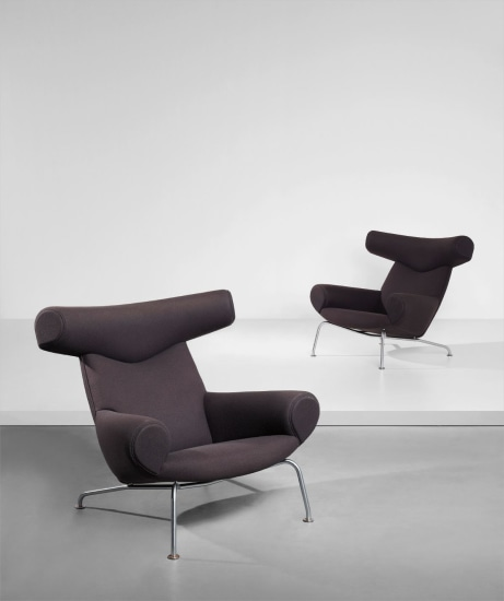 Pair of 'Ox' lounge armchairs, model no. AP-46