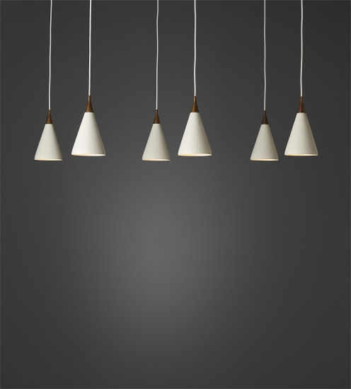 Set of six pendant lights