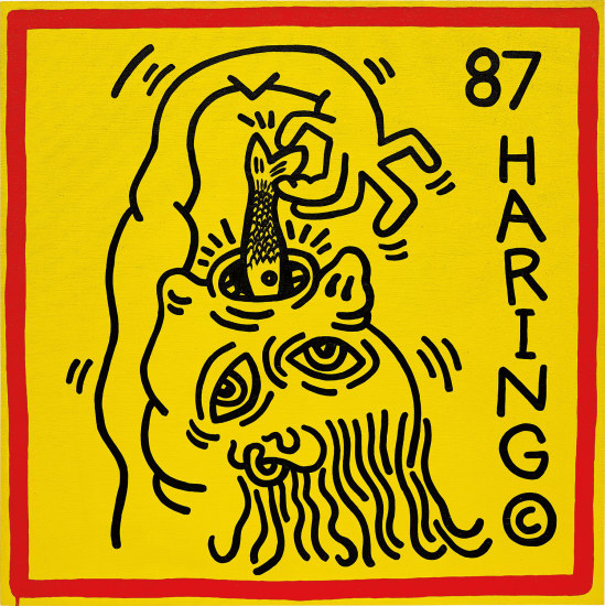 Keith Haring - Untitled (Knokke #3) | Phillips