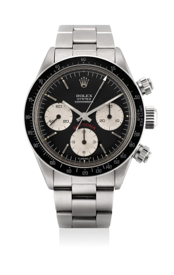 A fine and highly attractive stainless steel chronograph wristwatch with bracelet