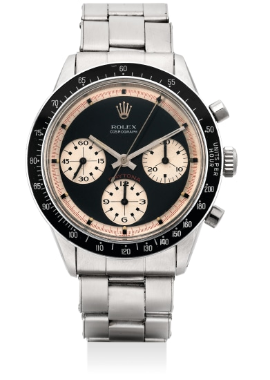 A fine and very rare stainless steel chronograph wristwatch with Paul Newman dial and bracelet