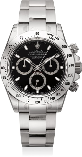 A fine stainless steel automatic chronograph wristwatch with bracelet, Warranty and box