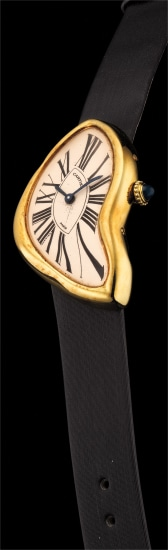 A very fine and rare limited edition asymmetrical wristwatch with Certificat and box