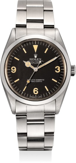 A fine and attractive stainless steel wristwatch with center seconds and bracelet