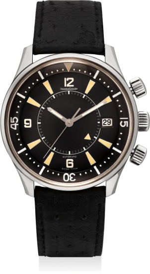 A fine and rare stainless steel automatic diver's alarm wristwatch with center seconds, date, Guarantee and box. Number 178 of a 768 pieces limited edition