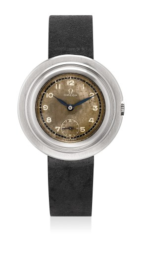A rare and fine oversized stainless steel wristwatch