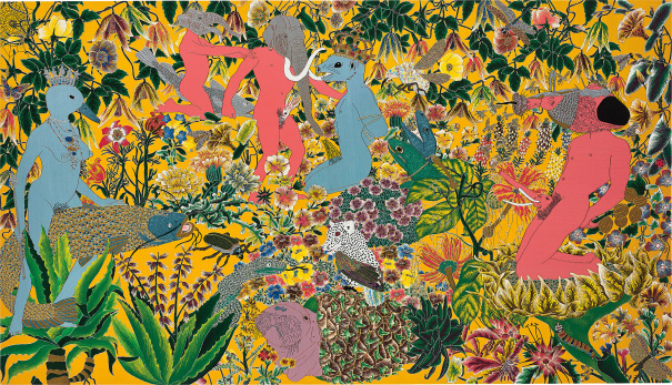 Raqib Shaw , After the Garden of Earthly Delights