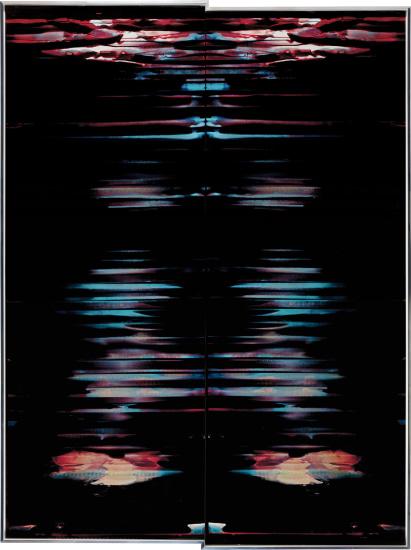 Inverted RA4 Contact Print / Processor Stall (YM: Los Angeles, California, November 30, 2017; Fujicolor Crystal Archive Super Type C, Em. No. 152-017; Kodak Ektacolor RA Bleach-Fix and Replenisher; Kreonite KM IV 5225 RA4 Color Processor, Ser. No. 00092174; 43117)
