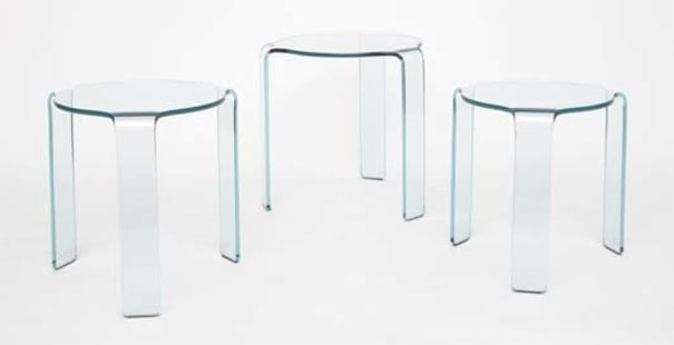 Brilliant Set Of Three Nesting Side Tables 20Th Century Phillips Ocoug Best Dining Table And Chair Ideas Images Ocougorg