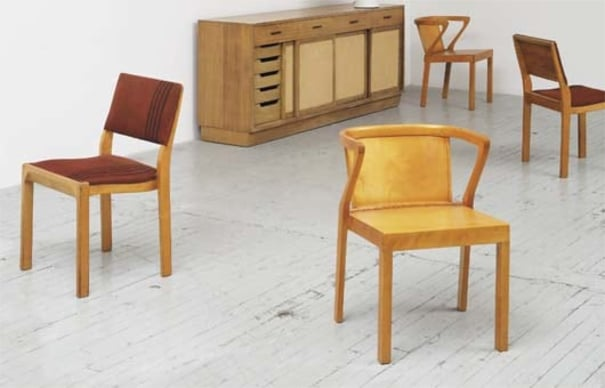 Pleasing Alvar Aalto Two Armchairs Model No 415 And Two Side Alphanode Cool Chair Designs And Ideas Alphanodeonline