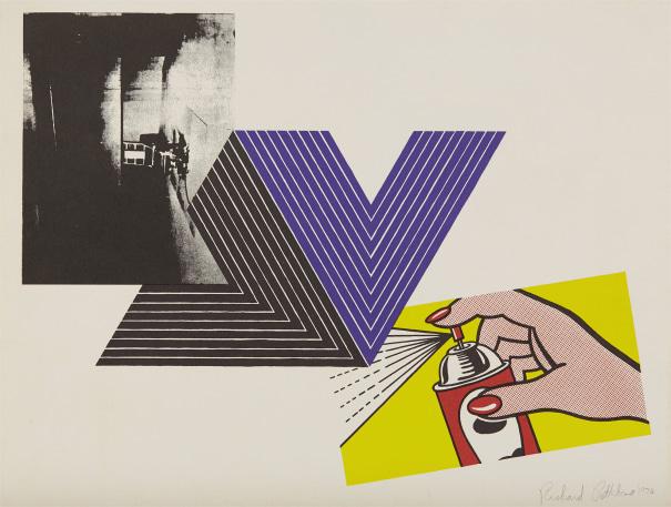 Appropriation Print (with Andy Warhol, Frank Stella and Roy Lichtenstein)