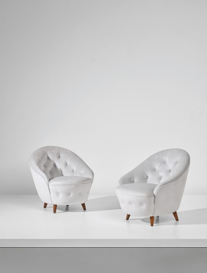 Pair of armchairs, designed for the VI Triennale, Milan