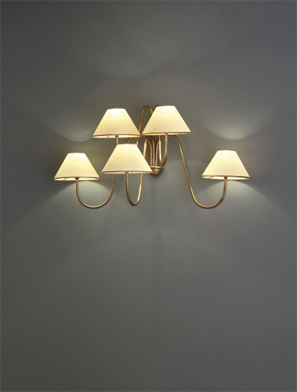 'Bouquet' five-armed wall light