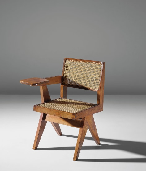 Writing chair, model no. PJ-SI-26-E, designed for the science department and administrative offices, Punjab University, Chandigarh