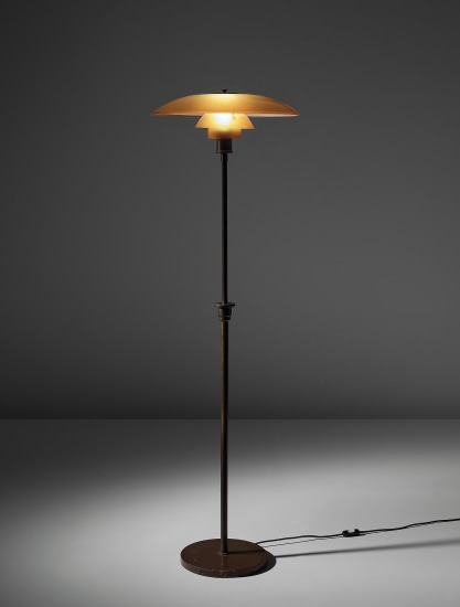 Early adjustable standard lamp, model no. PH 5/3