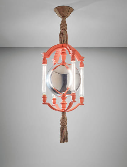 Important and rare 'Mercury Ball' chandelier, designed for the Viceroy's House, New Delhi