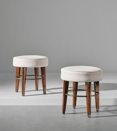 Pair of stools, designed for the Banca Nazionale del Lavoro, Bologna