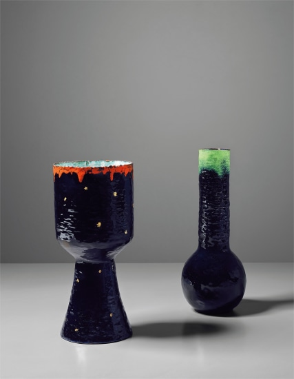 Two rare and large vases