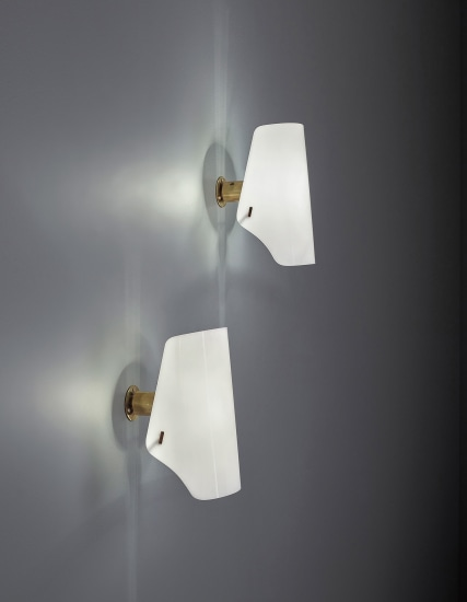 Pair of adjustable wall lights