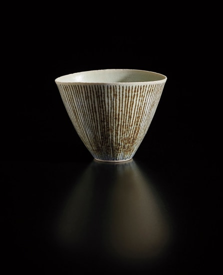 Conical bowl with oval lip