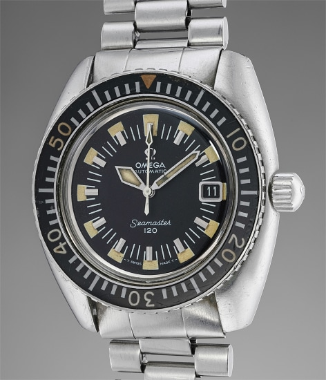 A rare and appealing stainless steel diver's watch with date, Bakelite bezel and bracelet made for the Israeli Defense Forces