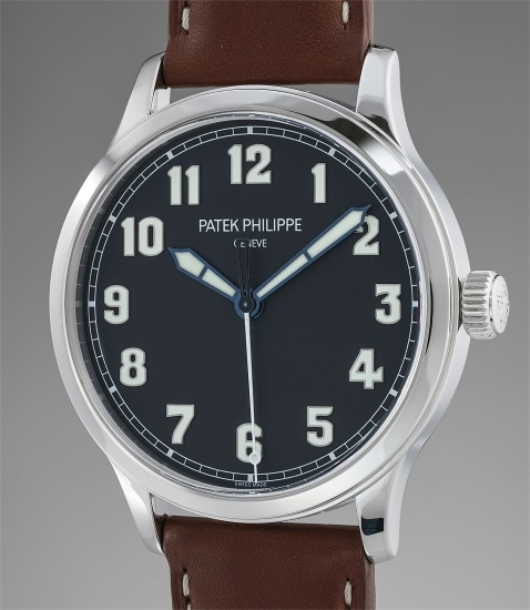 A fine and attractive large stainless steel limited edition aviator style wristwatch