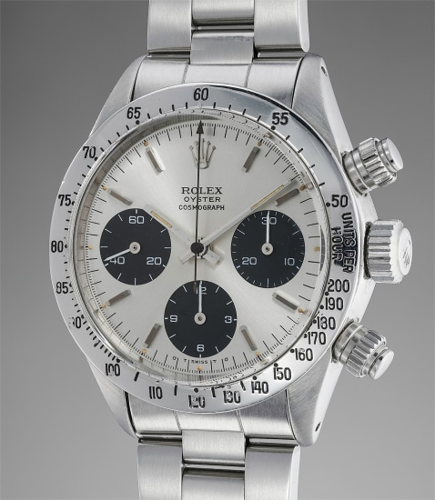 A fine and attractive stainless steel chronograph wristwatch with sigma dial and bracelet