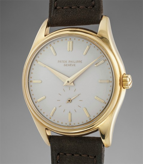 A highly attractive and rare yellow gold wristwatch with enamel dial and box