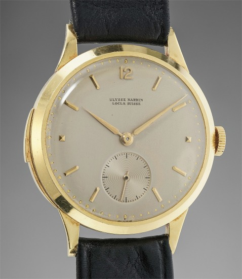 An exceptionally well preserved and most probably unique yellow gold minute repeating wristwatch