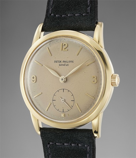 An extremely rare and attractive anti-magnetic yellow gold wristwatch with Arabic numerals and box