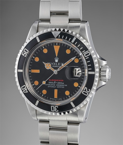 A rare, attractive and well-preserved stainless steel diver's wristwatch with center seconds, date, bracelet, guarantee and fitted presentation box