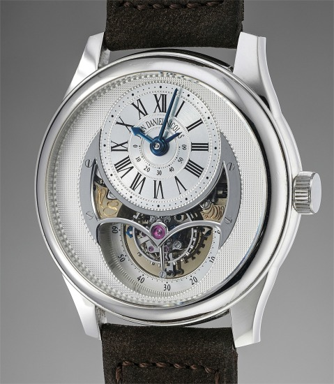 An extremely rare and attractive platinum two minute tourbillon wristwatch with power reserve indicator