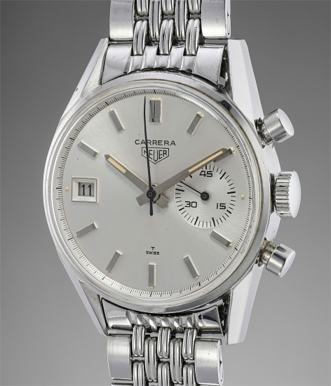 A very attractive stainless steel chronograph wristwatch with date and bracelet