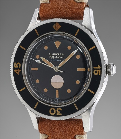 """An extremely rare and attractive stainless steel diver's wristwatch with """"Double Swiss"""" dial and humidity indicator"""