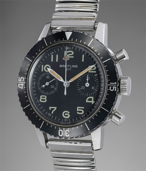 A fine and very rare stainless steel chronograph wristwatch, made for the Italian army