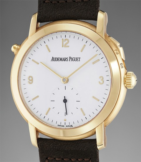 An extremely fine and rare limited edition yellow gold quarter repeating grande & petite sonnerie  wristwatch