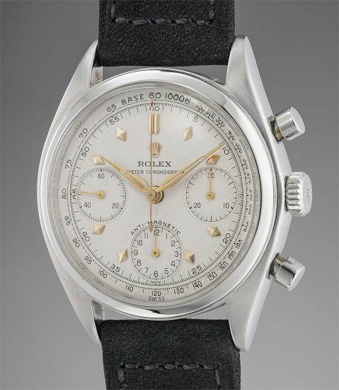 A fine and attractive stainless steel chronograph wristwatch