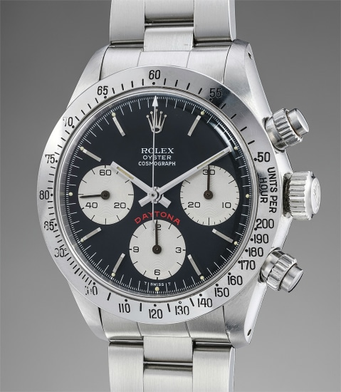 A rare and extremely well-preserved stainless steel chronograph wristwatch with bracelet