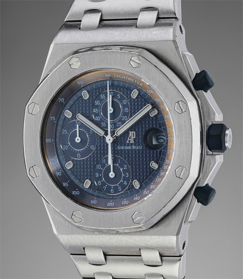 An early and extremely rare stainless steel chronograph wristwatch with date and tachymeter scale, belonging to Emmanuel Gueit and accompanied by original sketches
