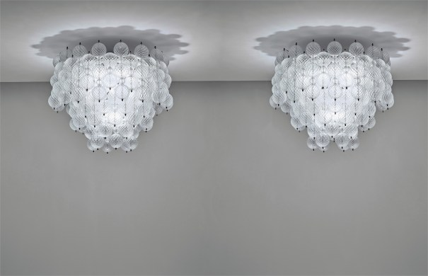 Pair of rare and large 'Balloton' chandeliers