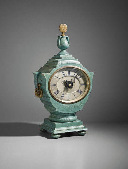Important and rare Mantel clock, designed for Lady Willingdon, the Viceroy's House, New Delhi