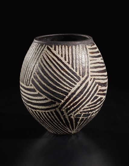 Early and large vase with abstract design