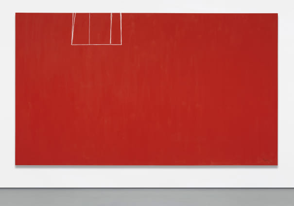 Open No. 153: In Scarlet with White Line