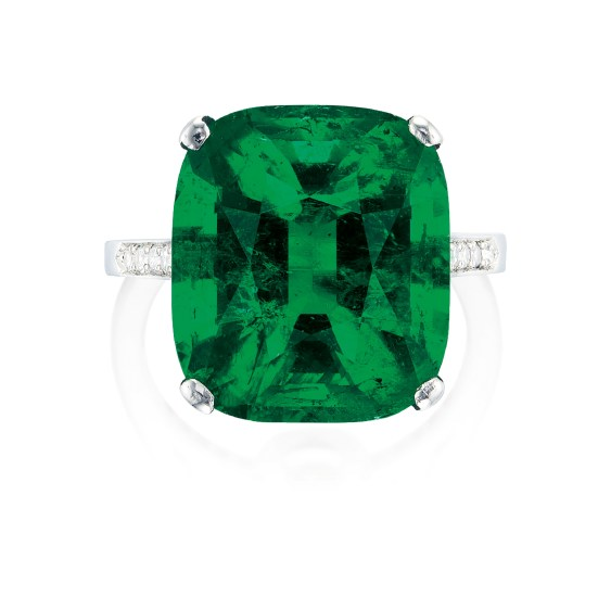 A Fine Emerald and Diamond Ring, Mount by Cartier